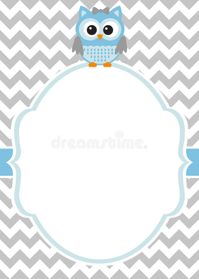 Fête de naissance - calibre de carte d'invitation de bébé garçon illustration de vecteur