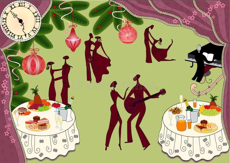 Fête de Noël illustration libre de droits