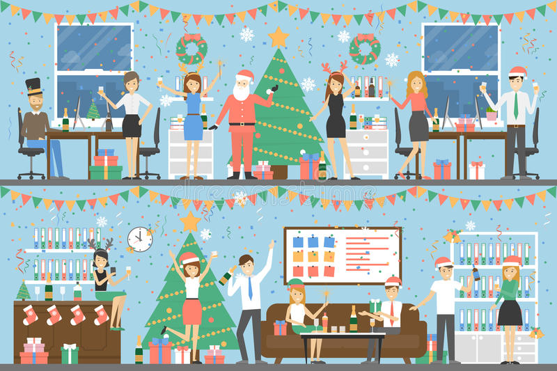 Fête de Noël de bureau illustration stock