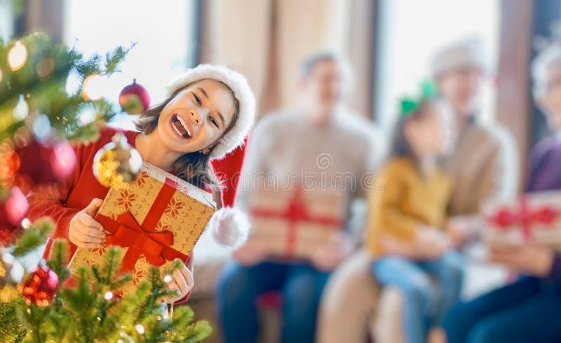 Fête de Noël en famille images stock
