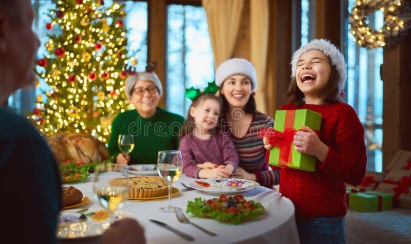 Fête de Noël en famille image stock