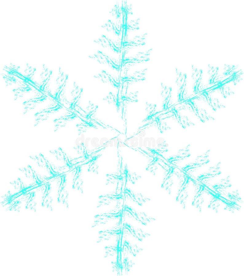 Fêtes de Noël hiver, Noël, flocon de neige isolé, feuilles de papier, icône, glace illustration libre de droits