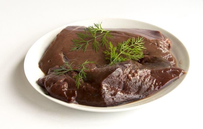 Fígado cru da carne imagens de stock royalty free