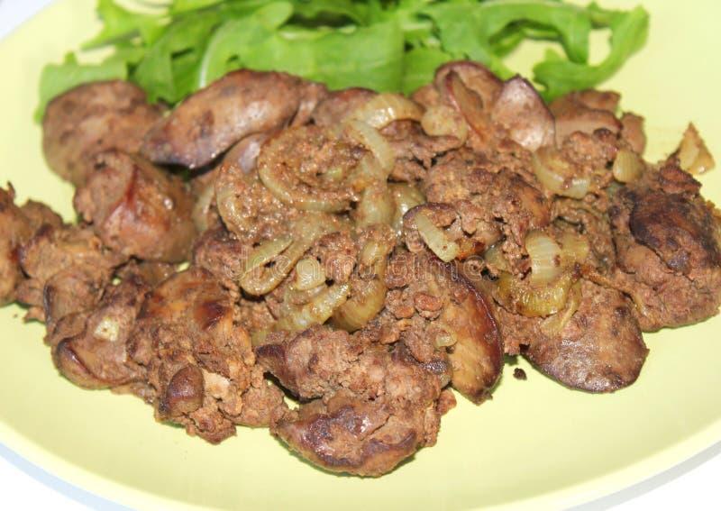 Fígado de galinha fotografia de stock royalty free