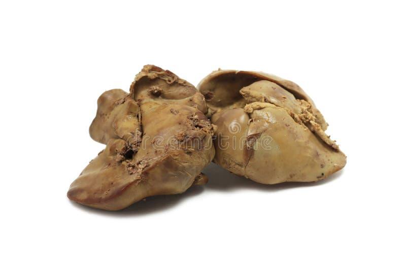Fígado de galinha cozinhado imagens de stock royalty free