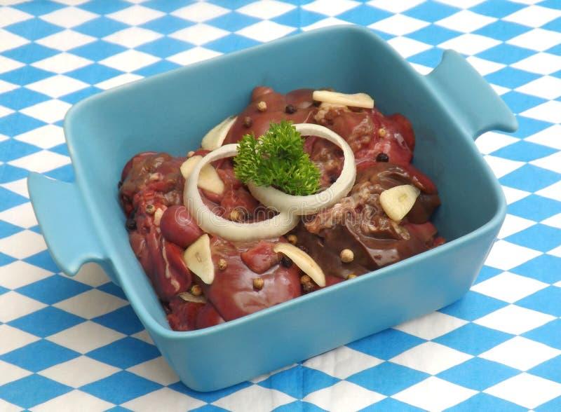 Fígado de uma carne de porco fotografia de stock