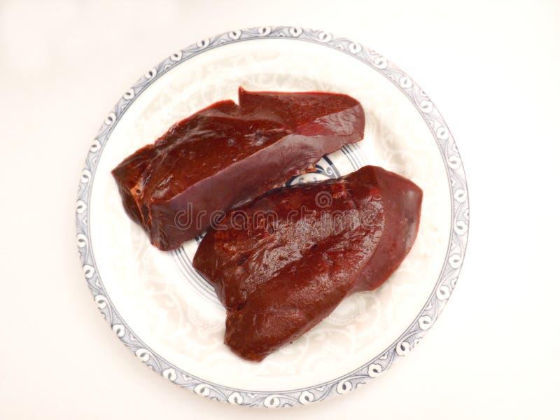 Fígado fresco imagem de stock royalty free