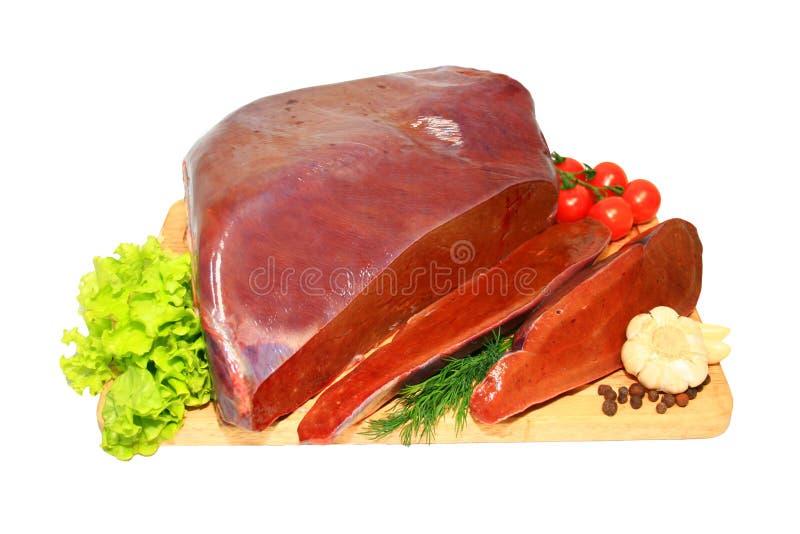 Fígado fresco fotos de stock