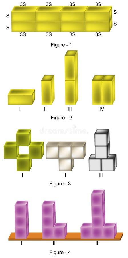 Física - figuras da pressão no versiyon 01 dos sólidos ilustração royalty free