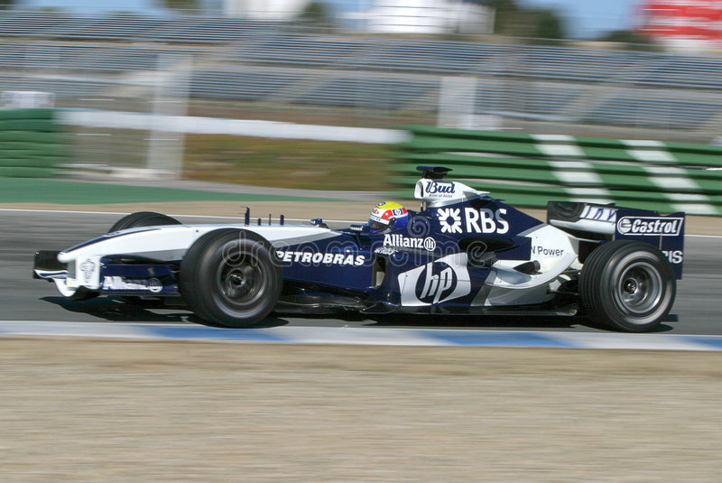 Fórmula 1 2005 estação, carro de BMW imagem de stock
