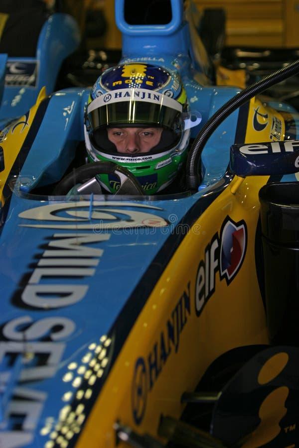 Fórmula 1 2005 estación, Juan Carlos Fisichella imágenes de archivo libres de regalías