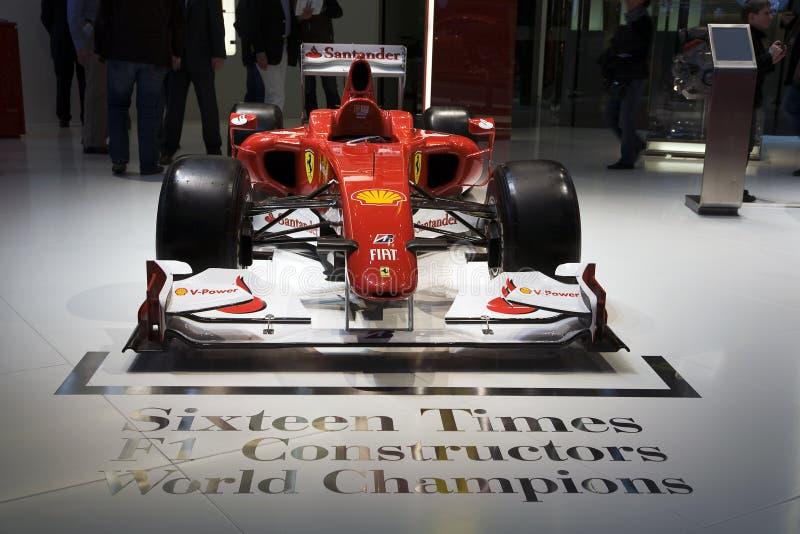 Fórmula 1 de Ferrari F10 fotos de archivo