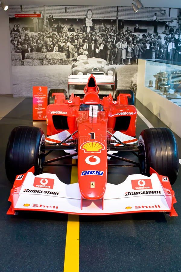 Fórmula 1 do carro desportivo de Ferrari fotografia de stock
