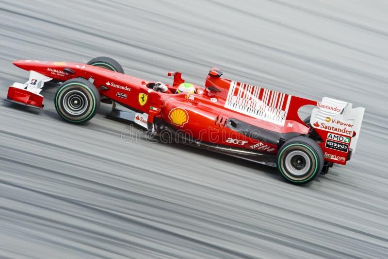 Fórmula 1 Felipe Massa de Scuderia Ferrari Marlboro fotografía de archivo