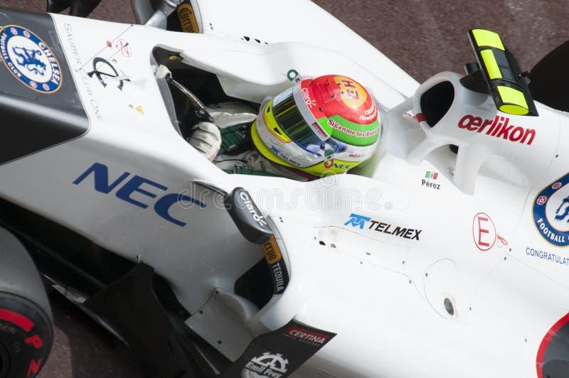 Fórmula 1 Monaco Prix grande Pérez fotos de stock royalty free