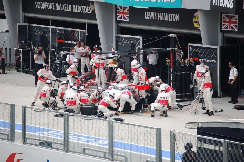 Fórmula 1 Prix magnífico malasio Sepang 2010 fotografía de archivo