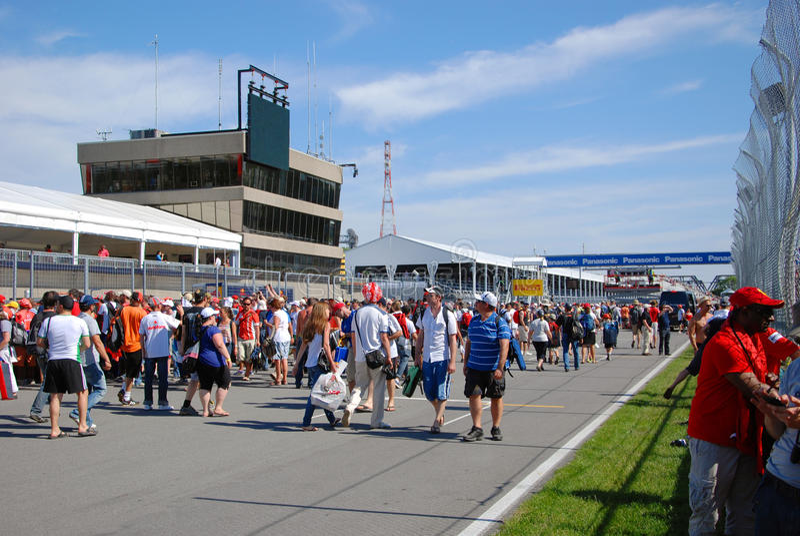 Fórmula 2012 1 Prix grande canadense fotografia de stock