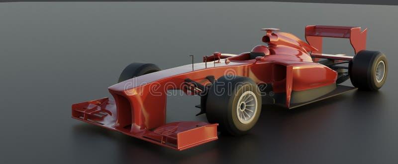 Fórmula 1, carro vermelho, 3d para render ilustração do vetor