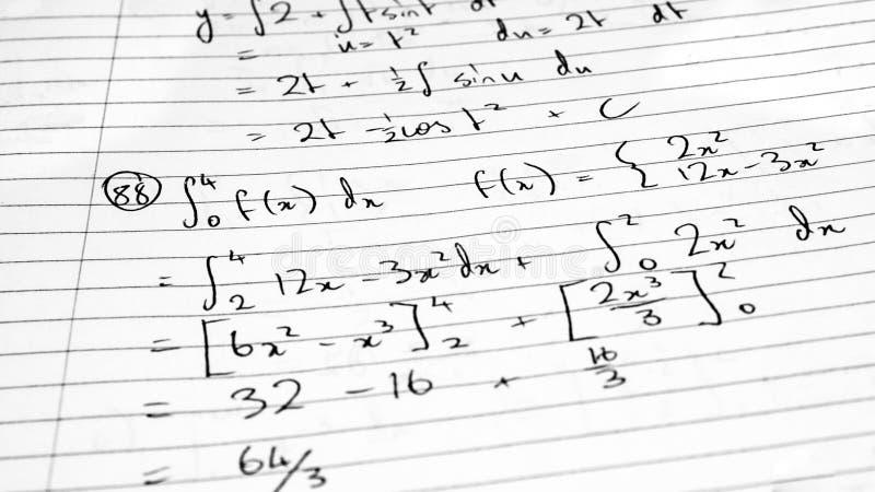 Fórmula da matemática foto de stock
