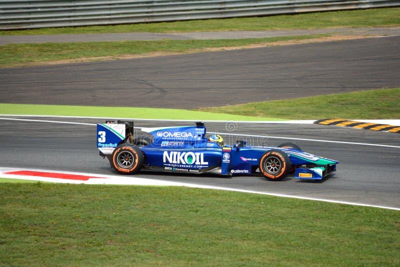 Fórmula da série GP2 conduzida pelo ¡ n de Julià Leal em Monza foto de stock royalty free