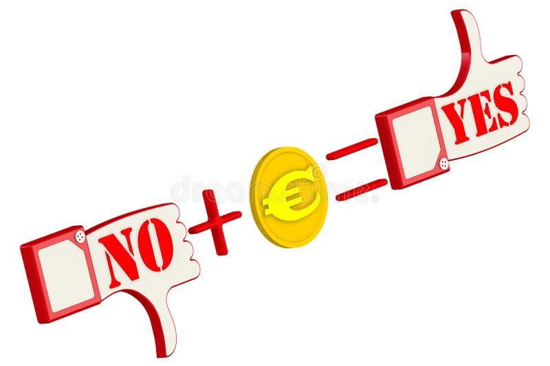 Fórmula de la corrupción con la moneda euro del oro ilustración del vector