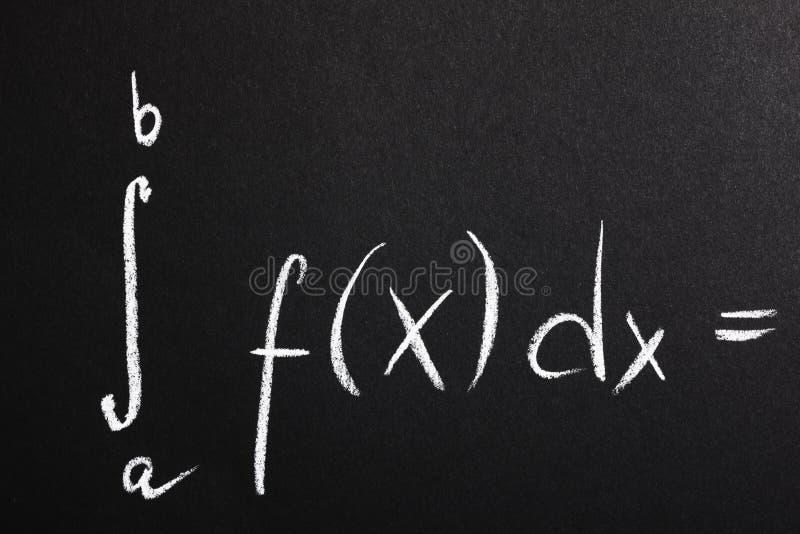 Fórmula de la matemáticas foto de archivo libre de regalías