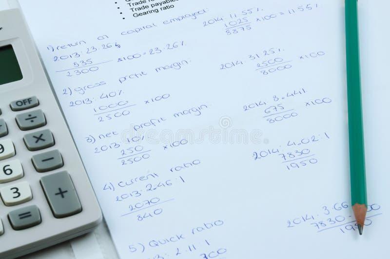 Fórmula de las matemáticas fotos de archivo