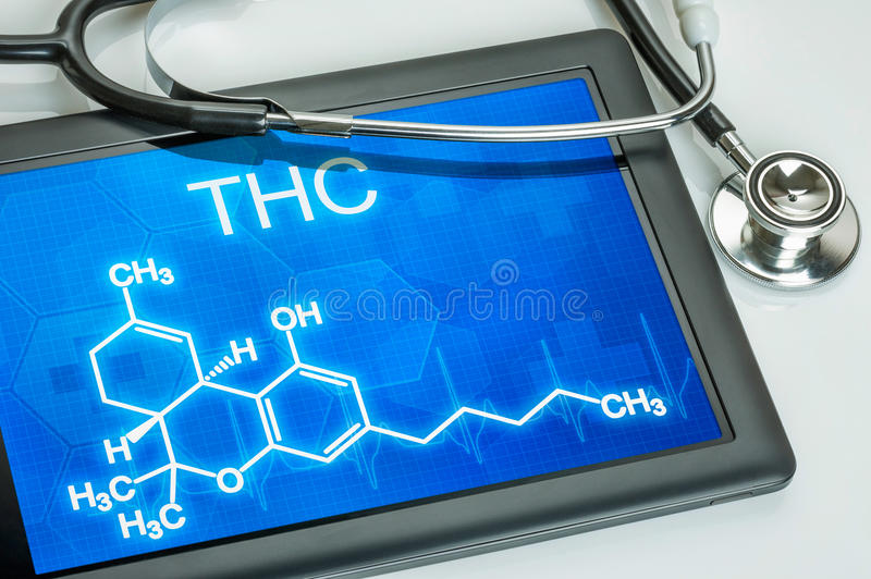 Fórmula de THC fotografia de stock