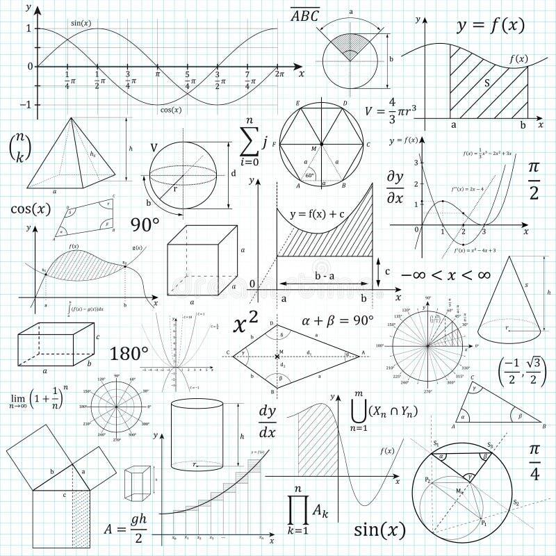 Fórmula del vector de la matemáticas ilustración del vector