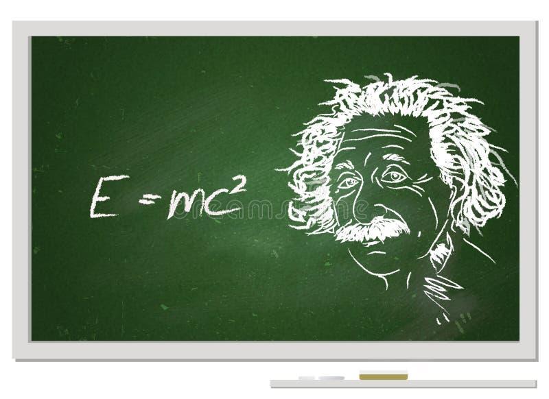 Fórmula e=mc2/ ilustração do vetor
