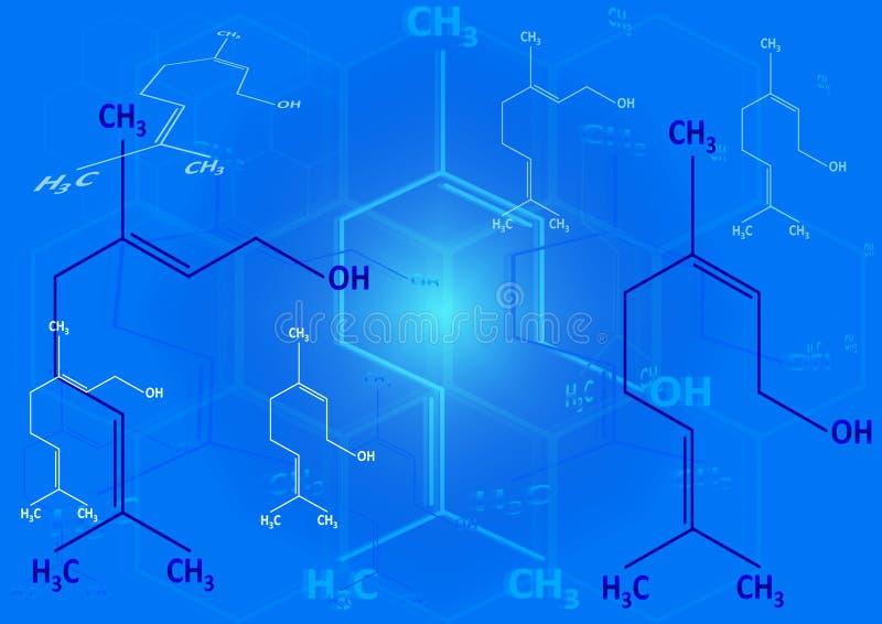 A fórmula estrutural química do espírito ilustração royalty free