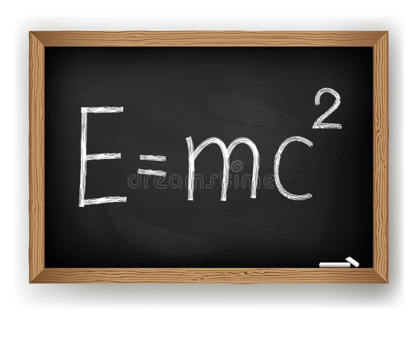 Fórmula física en la pizarra libre illustration