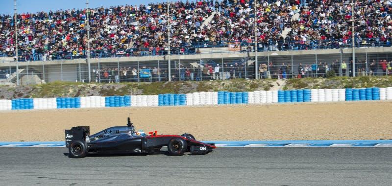 Fórmula 1, 2015: Fernando Alonso, McLaren-Honda fotos de archivo