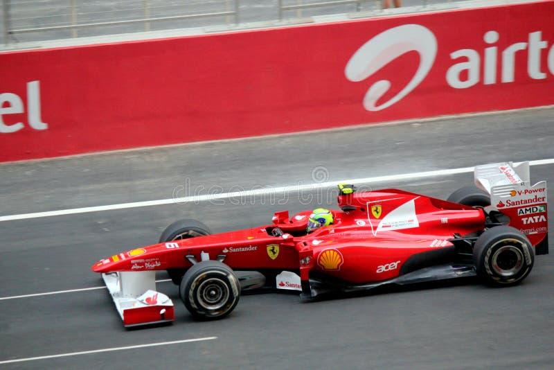 Fórmula 1 Ferrari automobilístico de competência imagens de stock royalty free