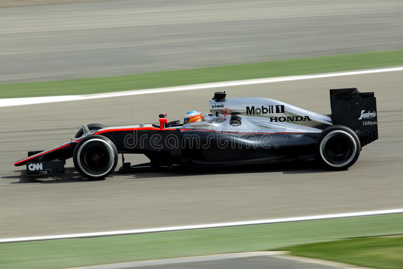 Fórmula 1 Gulf Air Barém Prix grande 2015 foto de stock royalty free