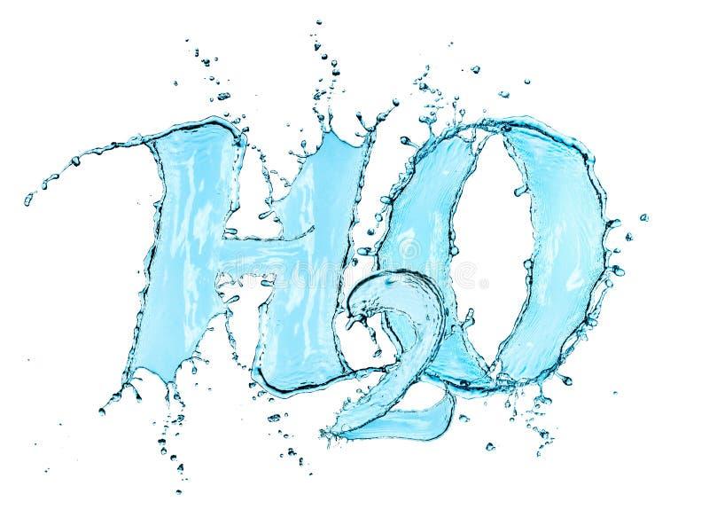 Fórmula H2O da água do respingo ilustração royalty free