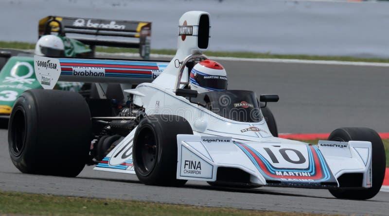Fórmula histórica 1, obra clásica de Silverstone foto de archivo libre de regalías