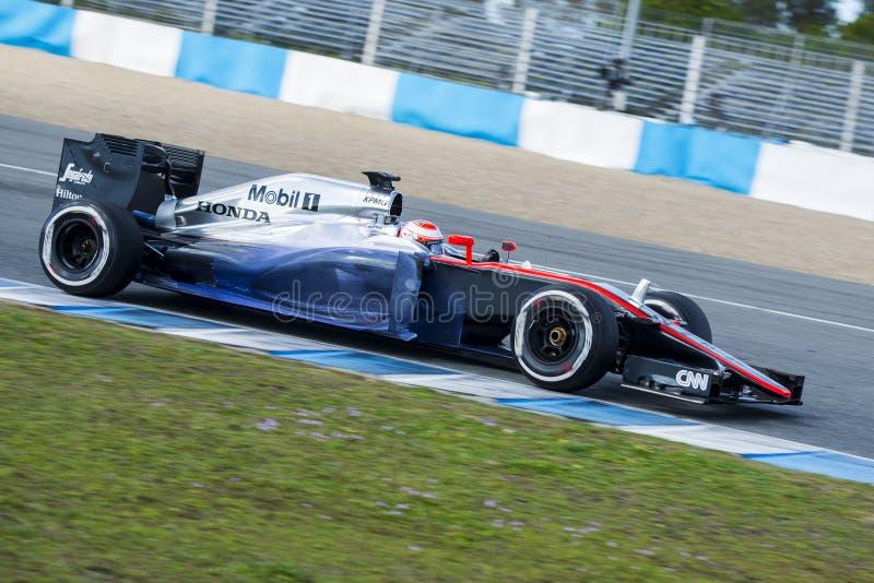 Fórmula 1, 2015: Jenson Button, McLaren-Honda foto de archivo
