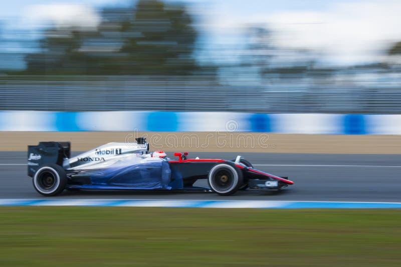 Fórmula 1, 2015: Jenson Button, McLaren-Honda imagen de archivo