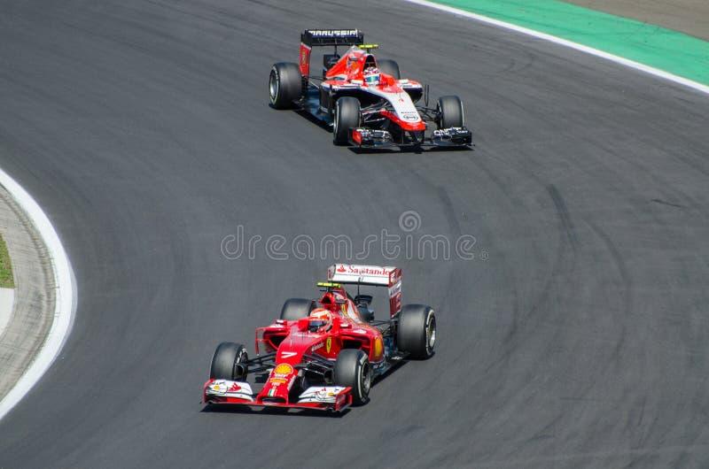Fórmula 1 - Kimi Raikkonen imagenes de archivo