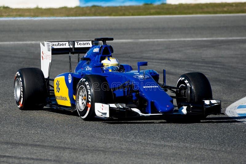 Fórmula 1 2015: Marcus Ericsson fotos de archivo libres de regalías