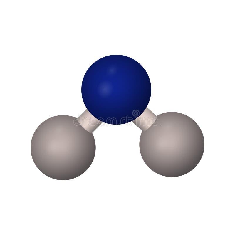 A fórmula molecular da água H2o ilustração do vetor