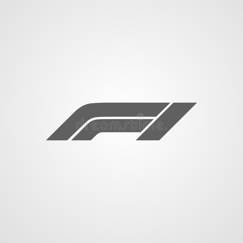 a fórmula 1 ou o símbolo da ilustração do vetor do ícone do logotipo f1 isolaram-se ilustração do vetor