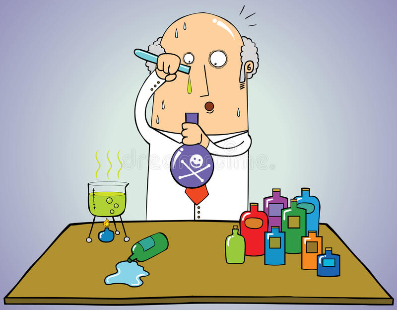 Fórmula perigosa ilustração do vetor