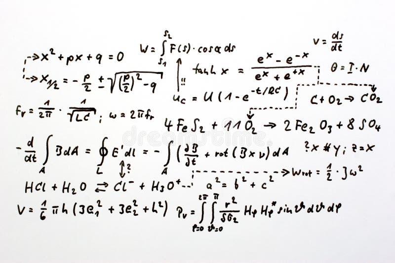 Fórmulas foto de archivo