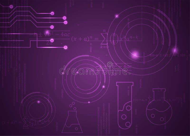 F?rmulas abstratas de background_1_of, c?digo, sinais e placas matem?ticas, conceito de projeto da tecnologia digital e ci?ncia ilustração royalty free