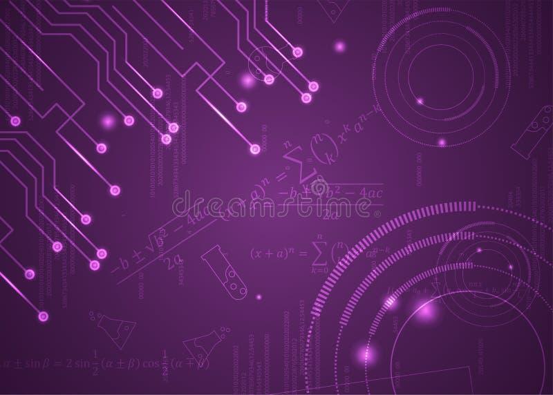 F?rmulas abstratas de background_3_of, c?digo, sinais e placas matem?ticas, conceito de projeto da tecnologia digital e ci?ncia ilustração do vetor