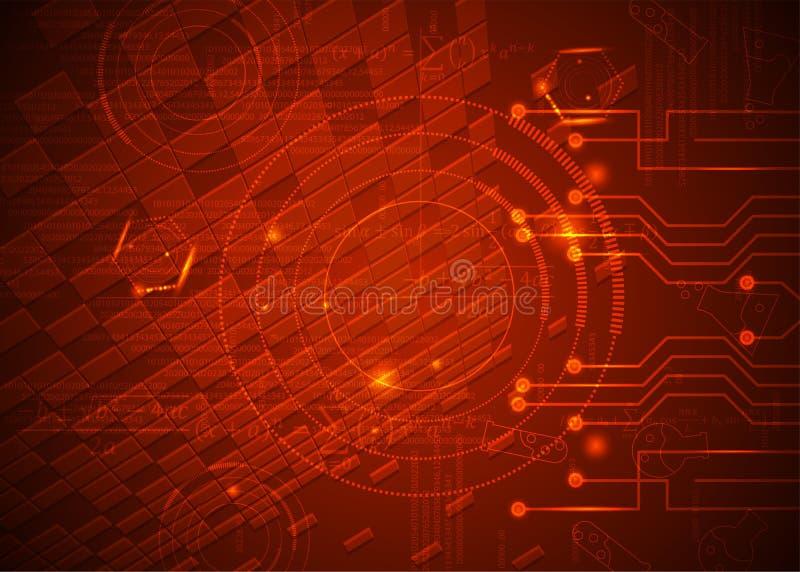 Fórmulas abstratas de background_13_of, código, sinais e placas matemáticas, conceito de projeto da tecnologia digital e ciência ilustração do vetor