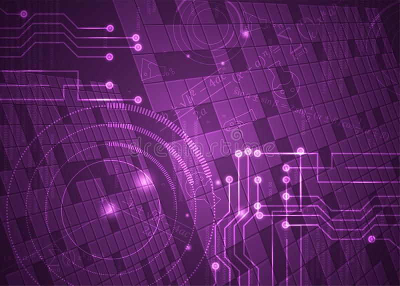 Fórmulas abstratas de background_19_of, código, sinais e placas matemáticas, conceito de projeto da tecnologia digital e ciência ilustração do vetor