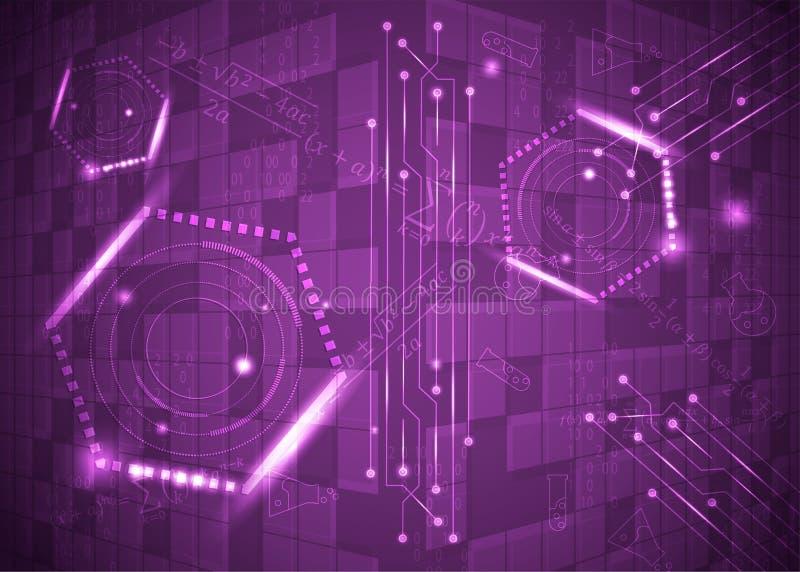 Fórmulas abstratas de background_10_of, código, sinais e placas matemáticas, conceito de projeto da tecnologia digital e ciência ilustração stock